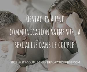 Intimité sexuelle&Communication